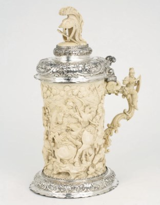 A large german silver-mounted