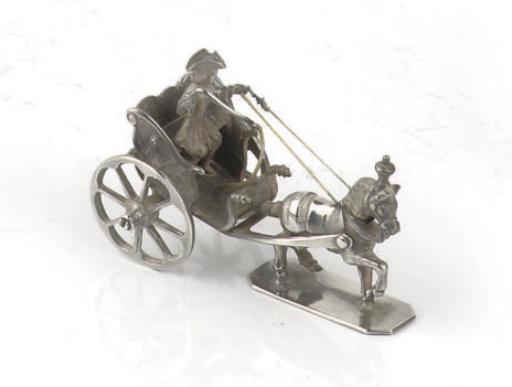 A dutch silver miniature of a