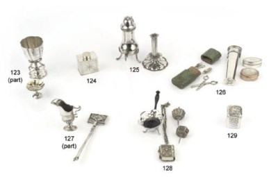 A Dutch silver miniature tea-c