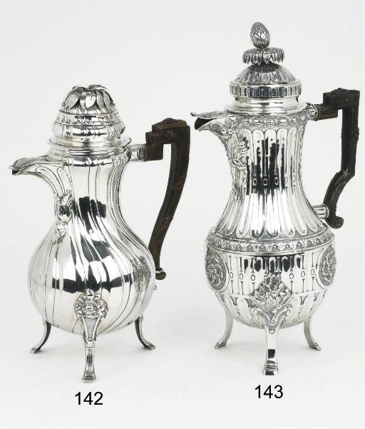 A Belgian silver coffee-pot