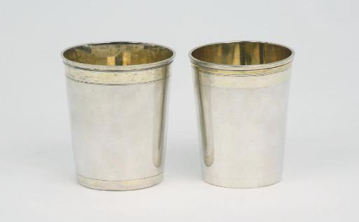 Two German Silver Beakers