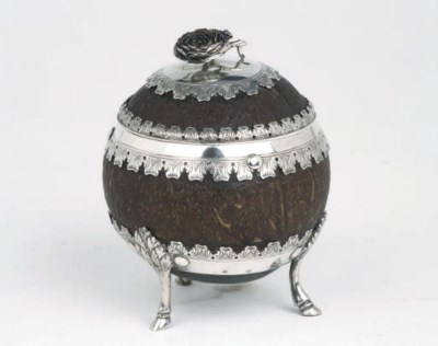 An Austrian silver-mounted coc