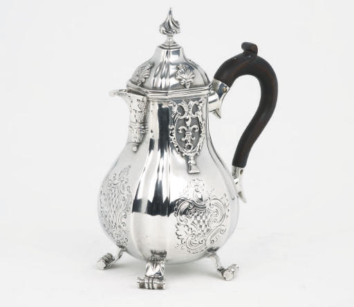 A Dutch silver hot-milk jug
