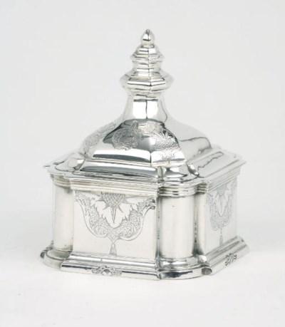 A German silver tobacco pot