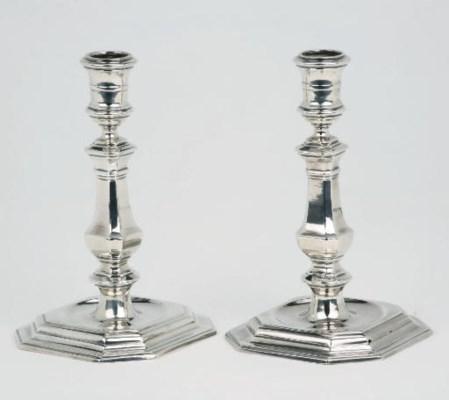 An early pair of Dutch silver