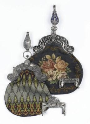 Two dutch silver bag-mounts wi