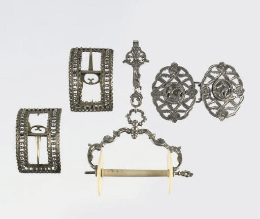 A fine dutch silver and ivory