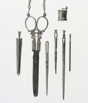 Four dutch silver bodkins, a n