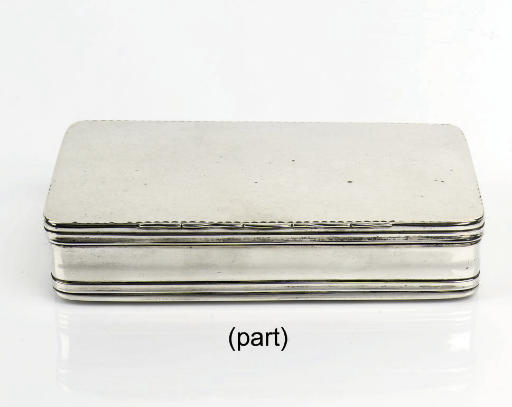 A dutch silver tobacco-box and pill-box