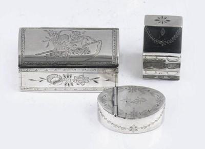 A dutch silver-snuff box and t