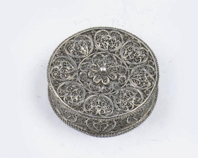 A fine dutch silver filigree s