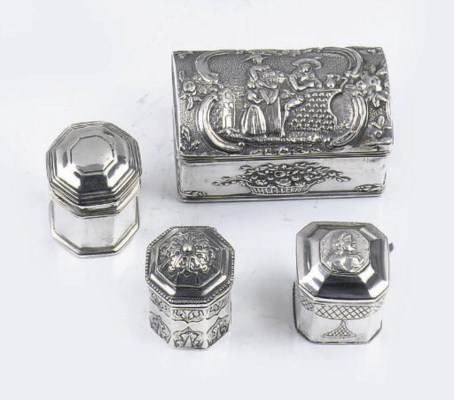Three various dutch silver sce