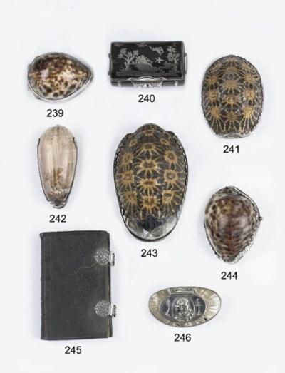 A fine silver-mounted tortoise