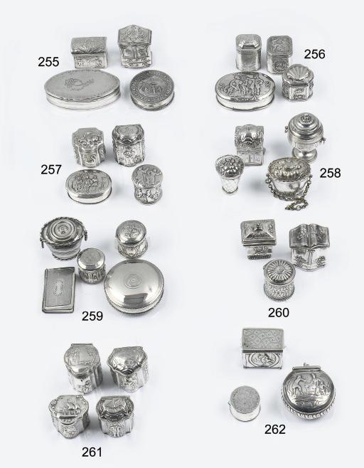 Four various dutch silver scen