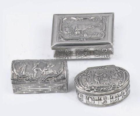 Three various dutch silver snu