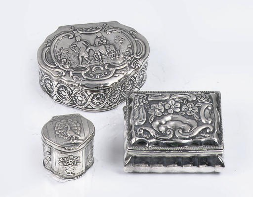 Two dutch silver snuff-boxes a