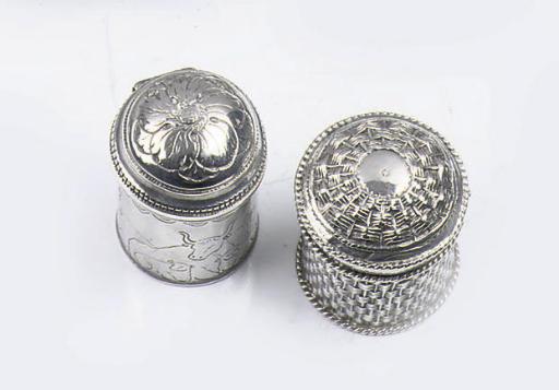 Two fine dutch silver scent-bo