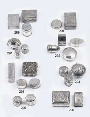 Three various dutch silver sce