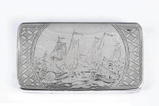 A fine dutch silver tobacco-bo