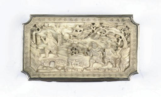 An unusual silver and ivory to