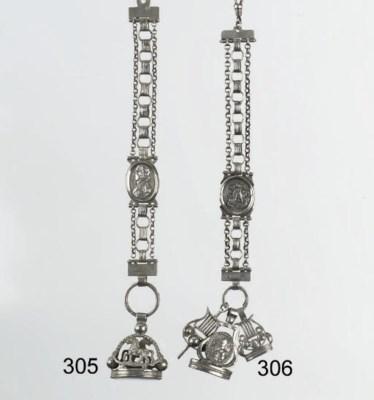 A dutch silver watch-chain