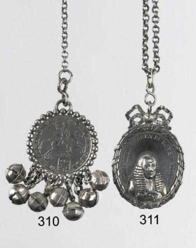 A fine dutch silver coin rattl