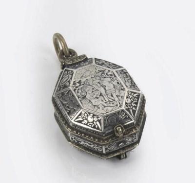 A fine dutch silver and brass