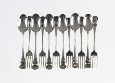 A matched set of six dutch sil