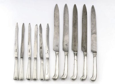 A set of five Dutch silver des