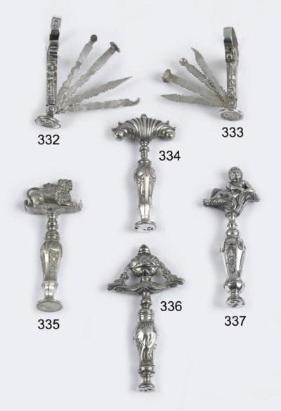 A fine dutch silver corkscrew