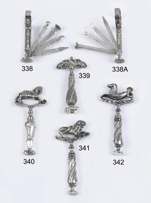 A dutch silver pipe-scraper 'p