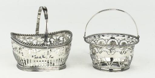 A Dutch silver sewing basket a