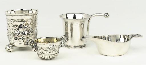 A dutch silver feeding-bowl, a