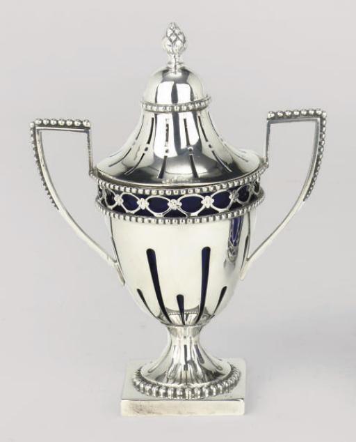 A Dutch silver mustard pot