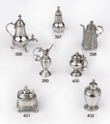 A Dutch silver miniature tobac