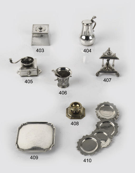 A Dutch silver miniature chamb