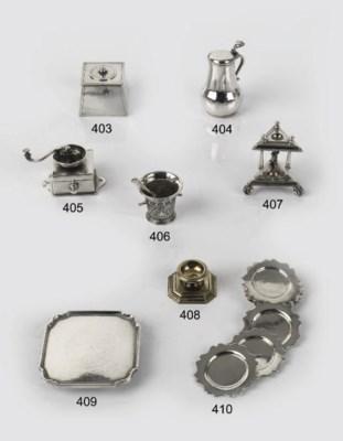 A Dutch silver miniature chamb