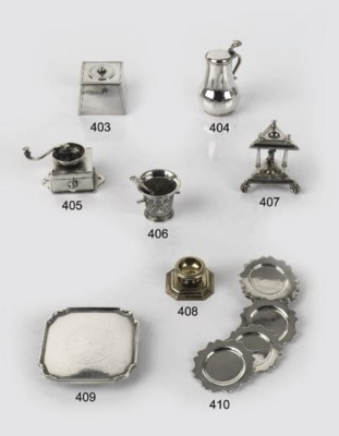 A Dutch silver miniature salve