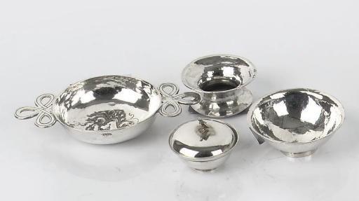 A dutch silver miniature bowl