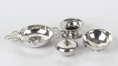 A dutch silver miniature bowl