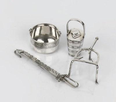 Four various dutch silver mini