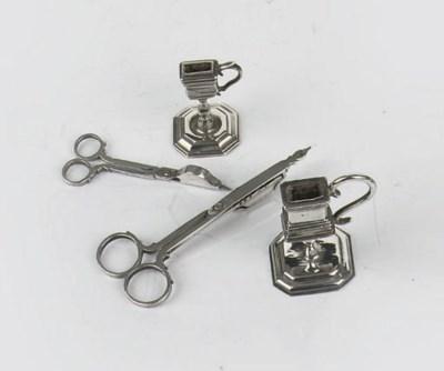 Two dutch silver miniature pai