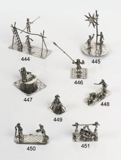 A Dutch silver miniature toy d
