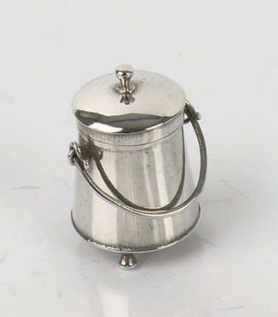 A Dutch silver miniature extin