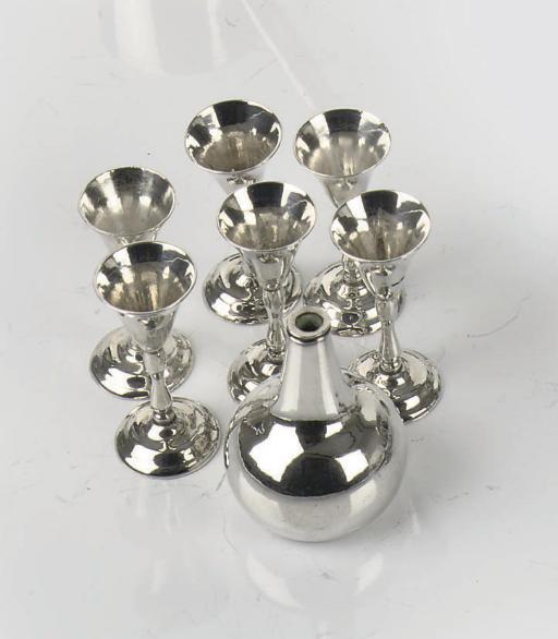 A Dutch silver miniature bottl