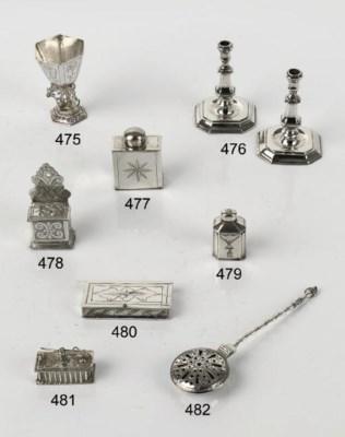A Dutch silver miniature warmi