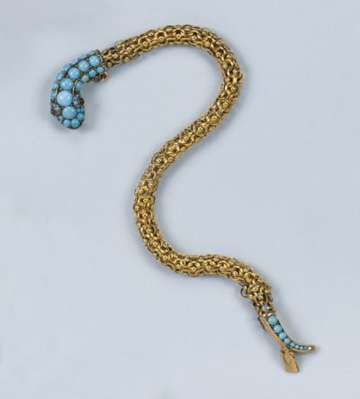 AN ANTIQUE TURQUOISE SNAKE BRA