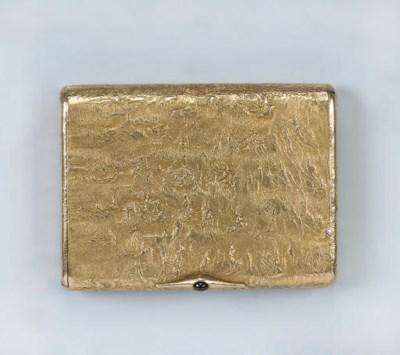 A GOLD SAMORODOK CIGARETTE-CAS