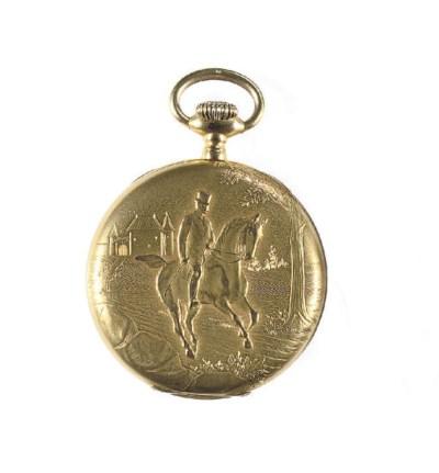 AN 18K GOLD OPENFACED KEYLESS