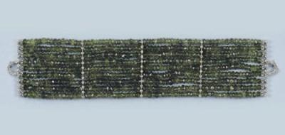 A GREEN GARNET AND DIAMOND BRA